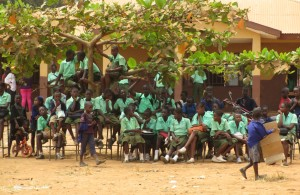 Pupils of the Secondary School.